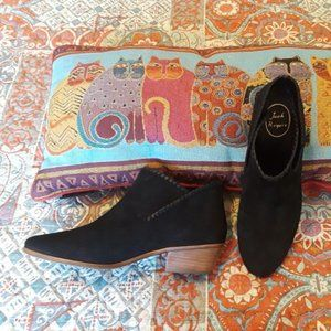 Jack Rogers black ankle boots